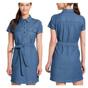 Izod Chambray Utility Shirt Dress NWT